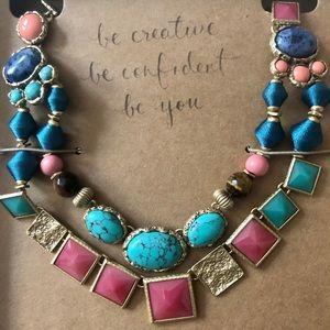 Maya turquoise Statement Necklace Chloe + Isabel